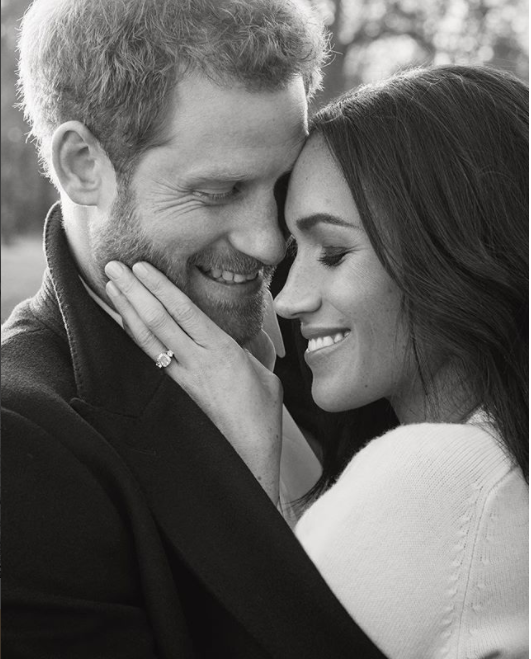 The couple look very loved up in their engagement snaps. Photo: Instagram/Kensington Palace