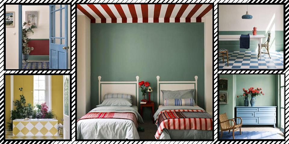"""<p>Farrow & Ball have revealed the paint colours we'll all be coveting for 2022, as predicted by their colour expert.</p><p>The British paint purveyors say that after the year or two we've had, we'll be veering towards familiar colours in clever combinations, shades that are anchored in comfortability and simplicity</p><p>Babouche, School House White, Breakfast Room Green, Stone Blue, and Incarnadine have been named by the paint brand as the shades that will define 2022. Here, <a href=""""https://go.redirectingat.com?id=127X1599956&url=https%3A%2F%2Fwww.farrow-ball.com%2F&sref=https%3A%2F%2Fwww.redonline.co.uk%2Finteriors%2Fdecorating-ideas%2Fg37413889%2Ffarrow-ball-colour-trends-2022%2F"""" rel=""""nofollow noopener"""" target=""""_blank"""" data-ylk=""""slk:Farrow & Ball"""" class=""""link rapid-noclick-resp"""">Farrow & Ball </a>colour curator Joa Studholme talks us through the shades that will be big for 2022 and how to use them in our homes.<br><br>'There is something inherently human in the colours that we are attracted to for 2022, as well as in the way we use them,' Joa explains. 'Décor is moving forward while drawing inspiration from the modest character of the world of folk and craft, using five significant shades that extol the virtues of a simple life and can be used in any combination and in any room. </p><p>'They are an eclectic mix of the pure and the humble that evokes the warmth and harmony of a more innocent age while celebrating life today. Function goes hand in hand with ornament, using colours and finishes in unusual ways to celebrate the principles of utility, kindness and honesty.'<br></p><p>So without further adieu, here are Farrow & Ball's Colours of the Year for 2022:</p>"""