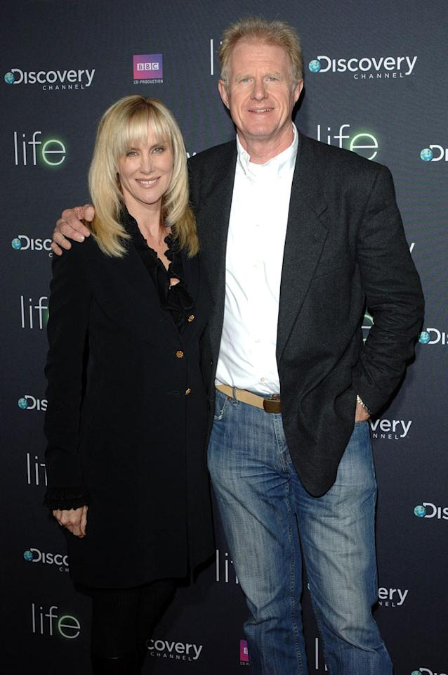 "<a href=""/ed-begley/contributor/31043"">Ed Begley Jr.</a> (right) and wife arrive at Discovery Channel's Los Angeles Screening of <a href=""/life/show/44198"">""Life""</a> at the Getty Center on February 25, 2010."