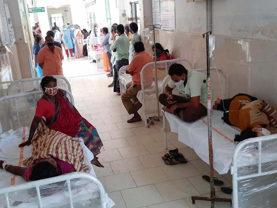 File: Patients await treatment at a government hospital in India (AP)