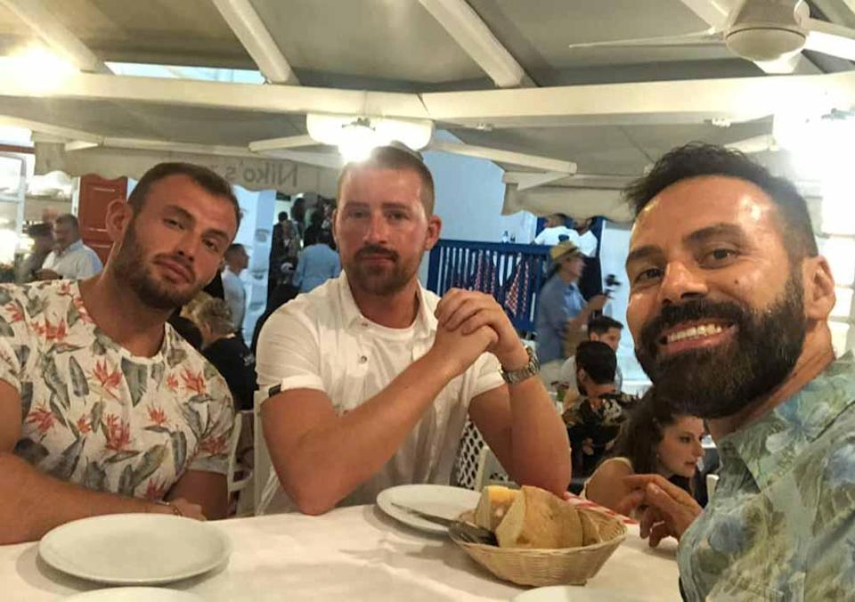 Neil and his friends in Mykonos in Greece, in 2019. PA REAL LIFE COLLECT
