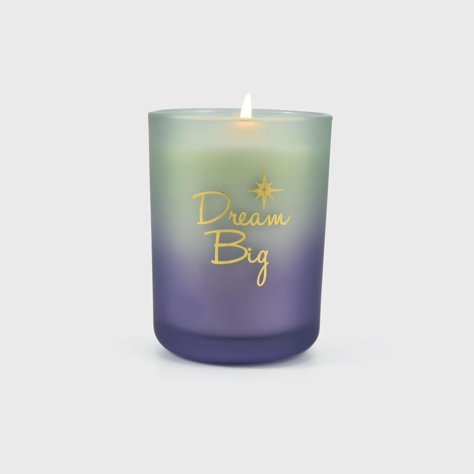 <p>For when you need a dose of inspiration and manifestation, the <span>Disney Princess X POPSUGAR Tiana Candle</span> ($13) will put you in the mood to dream big. If you love vanilla scents with a dash of coconut and rose, the Tiana candle is perfect for you. It's the perfect cozy night-in vibe with a blend of sweetness and warmth. Light this candle when you are journaling or getting ready for the day to get in the aspirational mindset. Inspired by Disney's <strong>The Princess and the Frog</strong>, the candle has a gorgeous frosted green-to-violet glass container and an elegant shiny gold lid.</p>