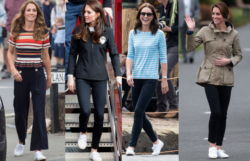 Kate Middleton con las zapatillas Superga.