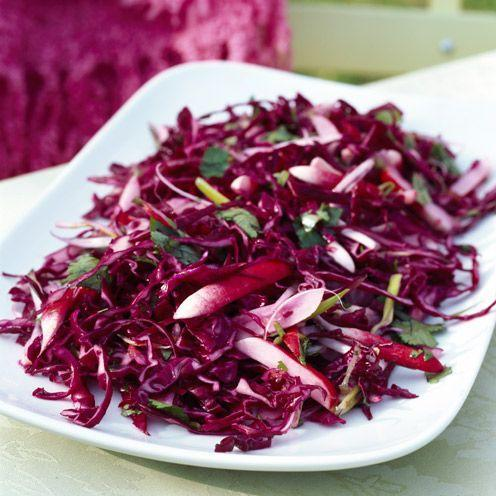 "<p>The easy red slaw is a great for vegetarians</p><p><strong>Recipe: <a href=""https://www.goodhousekeeping.com/uk/food/recipes/a536457/red-cabbage-and-grapefruit-slaw-536457/"" rel=""nofollow noopener"" target=""_blank"" data-ylk=""slk:Red cabbage and grapefruit slaw"" class=""link rapid-noclick-resp"">Red cabbage and grapefruit slaw</a></strong></p>"