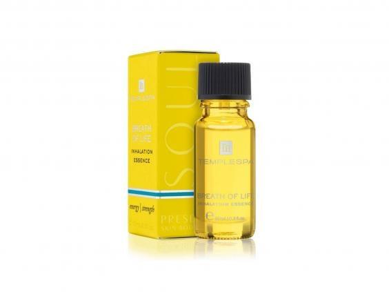 This aromatherapy essence can be used as an inhalation treatment on the go (Temple Spa)