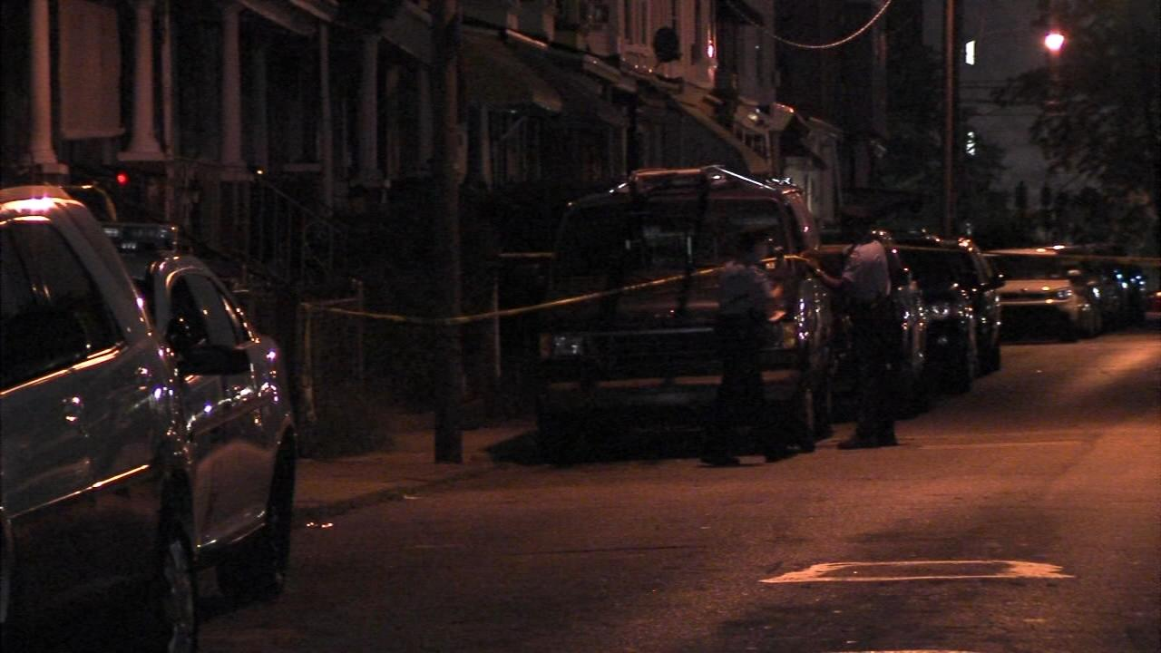 A man was shot and killed while sitting on his front porch in Philadelphia's Germantown section.