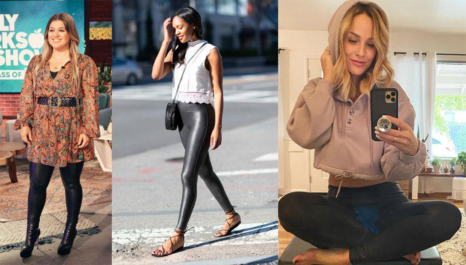 Spanx Faux Leather Leggings are on sale at Nordstrom Anniversary Sale. (Photo: Nordstrom)