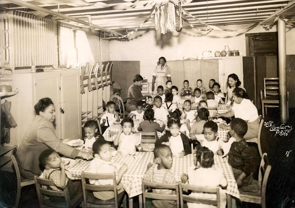 Children sit at a segregated day care center in Evanston, Il., in 1940. (Shorefront Photographic Collection / via Reuters)
