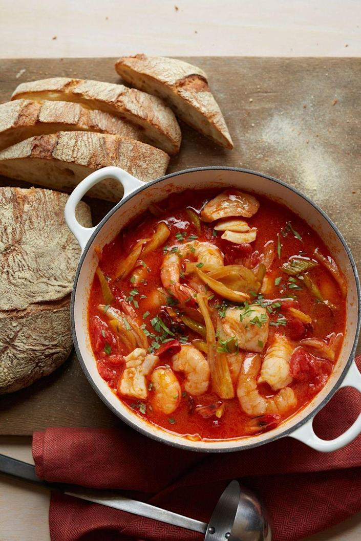 "<p>Nothing complements a tomato-rich broth more than spicy chorizo and sweet, tender seafood.</p><p><em><a href=""https://www.womansday.com/food-recipes/food-drinks/recipes/a11362/seafood-chorizo-vegetable-stew-recipe-wdy1013/"" rel=""nofollow noopener"" target=""_blank"" data-ylk=""slk:Get the Seafood, Chorizo, and Vegetable Stew recipe"" class=""link rapid-noclick-resp"">Get the Seafood, Chorizo, and Vegetable Stew recipe</a>.</em></p><p><strong><strong>What You'll Need: </strong></strong><a href=""https://www.amazon.com/Cook-Home-Stainless-Stockpot-Saucepot/dp/B012OIVV1C/"" rel=""nofollow noopener"" target=""_blank"" data-ylk=""slk:Large pot"" class=""link rapid-noclick-resp"">Large pot</a> ($36, Amazon)<br></p>"