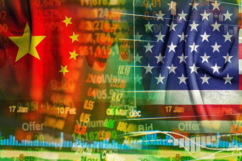 china and america cooperation concept background