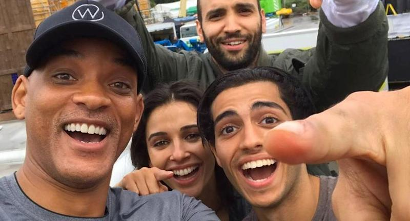 Disney 'darkens white actors' for new Aladdin shoot in London