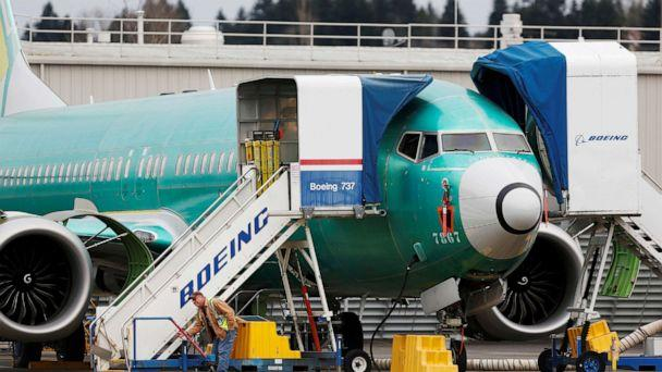 PHOTO: An employee works near a Boeing 737 Max aircraft at Boeing's 737 Max production facility in Renton, Wash., on Dec. 16, 2019. (Lindsey Wasson/Reuters, File)
