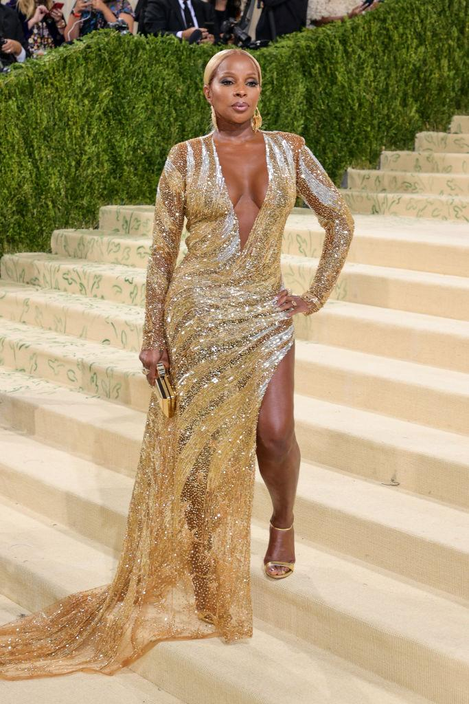 Mary J Blige at the 2021 Met Gala