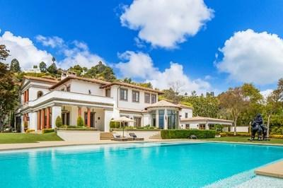 Sylvester Stallone's world-class contemporary Mediterranean compound listed by Jade Mills of Coldwell Banker Realty for $85,000,000. Photo Credit: Photo by Anthony Barcelo.