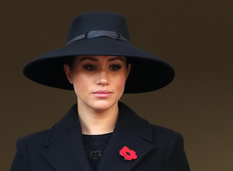 Meghan watched the ceremony from a balcony (Chris Jackson/Getty Images)