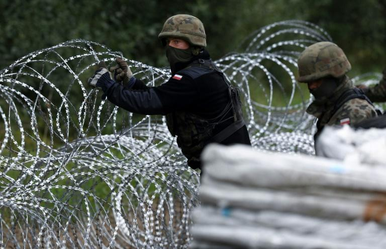 Thousands of migrants -- mostly from the Middle East -- have crossed or attempted to cross from Belarus into the eastern EU member states of Latvia, Lithuania and Poland in recent months (AFP/Jaap Arriens)