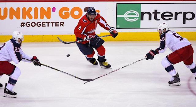 """The Capitals have problems, but <a class=""""link rapid-noclick-resp"""" href=""""/nhl/players/3637/"""" data-ylk=""""slk:Alex Ovechkin"""">Alex Ovechkin</a> isn't one of them. (Mark Goldman/Icon Sportswire via Getty Images)"""