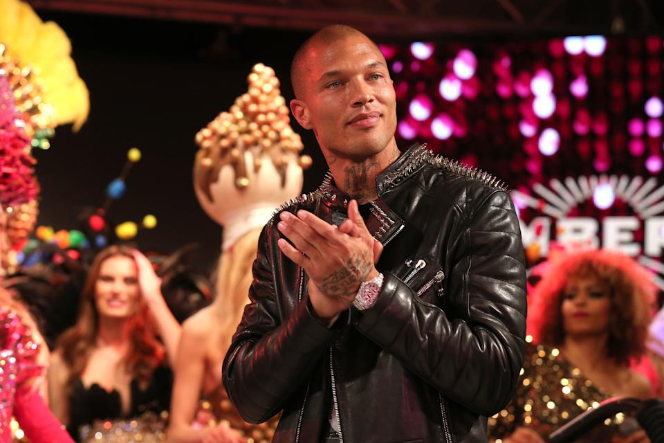 """COLOGNE, GERMANY - FEBRUARY 03:  Model Jeremy Meeks during the Lambertz Monday Night 2020 """"Wild Chocolate Party"""" (Schokoparty) on February 3, 2020 in Cologne, Germany. (Photo by Gisela Schober/Getty Images)"""