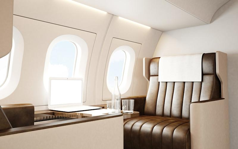 Which air route welcomes the most first class passengers? It should surprise you