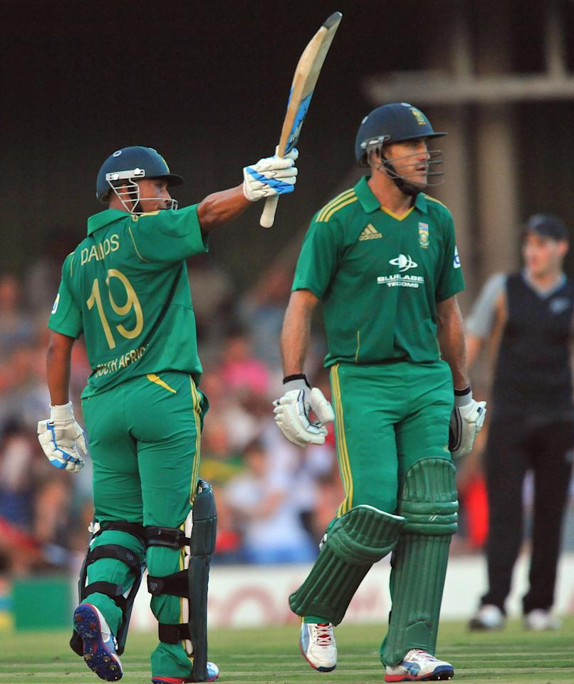 EAST LONDON, SOUTH AFRICA - DECEMBER 23:    Henry Davids of South Africa celebrates his 50during the 2nd T20 match between South Africa and New Zealand at Buffalo Park on December 23, 2012 in East London, South Africa.  (Photo by Duif du Toit/Gallo Images/Getty Images)