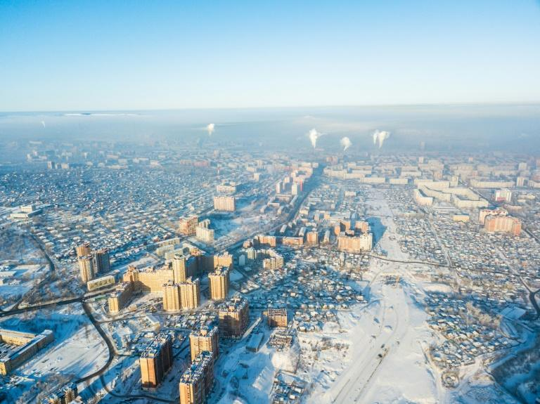The Siberian industrial city of Krasnoyarsk boasts dozens of factories as well as one of the world's biggest aluminium plants and was recently ranked among Russia's most polluted cities