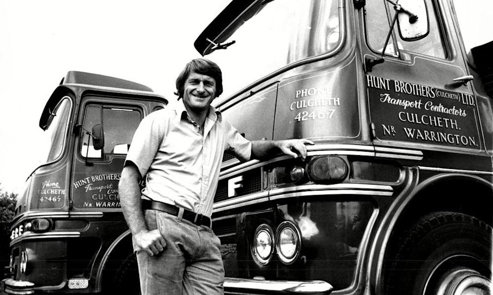 After Roger Hunt retired from football he joined the family haulage business.