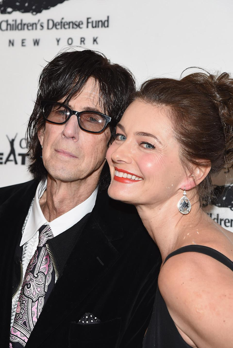 Porizkova (pictured with Ric Ocasek in 2016) has been speaking frankly about her grief and mental health since his death last September. (Photo: Gary Gershoff/WireImage)