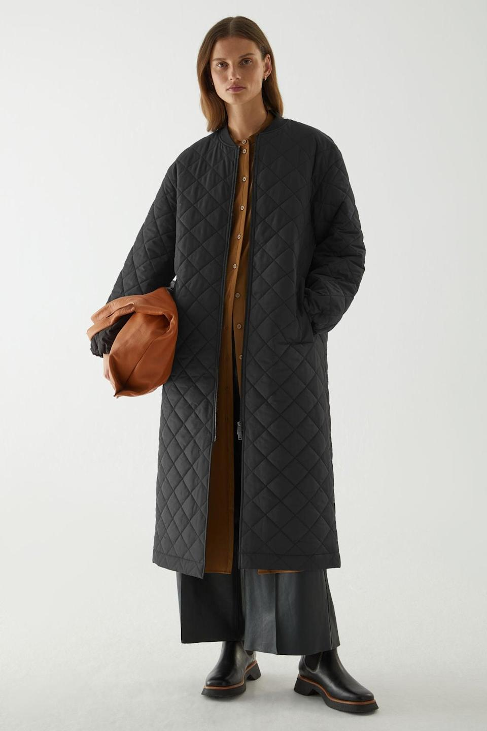 <p><span>COS Longline Quilted Coat</span> ($225)</p>