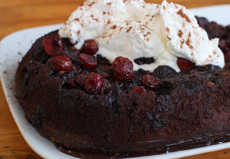 Cherry Slow Cooker Pudding Cake in Concord, N.H. This chocolate cake ...