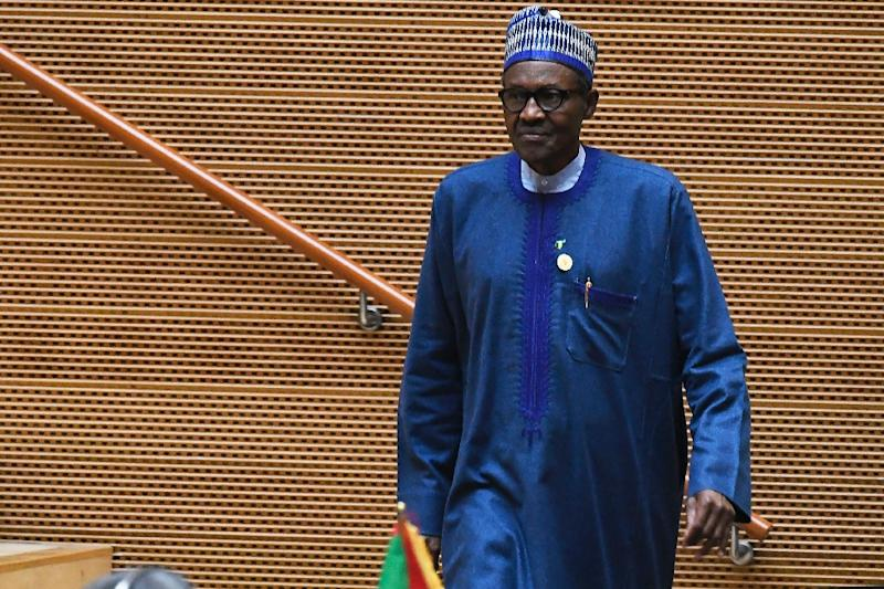 """President Muhammadu Buhari of Nigeria's visit to the White House follows a scandal that erupted in January 2018 when Trump allegedly branded African nations """"shithole countries"""" (AFP Photo/SIMON MAINA)"""