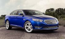 """<p>Anyone out there remember the <a href=""""https://www.caranddriver.com/ford/taurus"""" rel=""""nofollow noopener"""" target=""""_blank"""" data-ylk=""""slk:Ford Taurus"""" class=""""link rapid-noclick-resp"""">Ford Taurus</a>? Of course, you do. It <a href=""""https://www.caranddriver.com/features/a32964215/greatest-cars-of-all-time-the-eighties/"""" rel=""""nofollow noopener"""" target=""""_blank"""" data-ylk=""""slk:was one of our GOATs"""" class=""""link rapid-noclick-resp"""">was one of our GOATs</a>. The Taurus was Ford's mid-size sedan, and it was exceedingly popular in the 1980s and 1990s. There have been Tauruses since then, but not as many people cared. The sixth generation of the four-door grew larger and was sold from 2010 to 2019. Ford even offered a performance-oriented SHO (Super High Output) model with all-wheel drive, a sportier suspension tune, and a twin-turbo 3.5-liter V-6 with 365 horsepower. In 2013, its standard V-6 was updated to produce 288 horsepower. Most Tauruses went to the rental fleets to the keep the factory moving, but today these big sedans offer reliability, safety, and space as well as respectable performance and fuel economy for basically no money. Prices start at less than $5500.</p>"""
