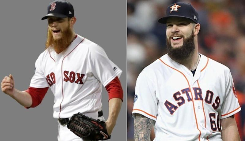 Which teams were winners and losers based on Craig Kimbrel signing with the Cubs and Dallas Keuchel signing with the Braves. (AP/Getty Images)