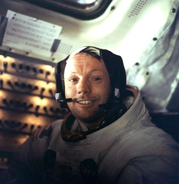 Apollo 11 commander Neil Armstrong, the first man on the Moon, inside the lunar module (AFP Photo/STF)