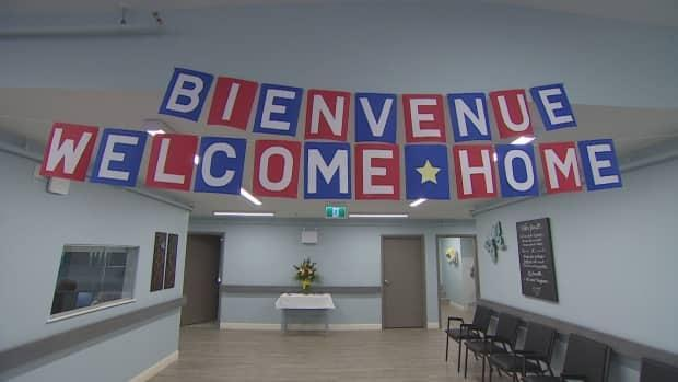Residents of Chez-Nous seniors' home in Wellington, P.E.I., were greeted by a welcome sign as they returned home. (Jessica Doria-Brown/CBC - image credit)