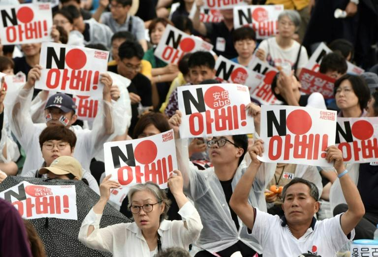 Seoul and Tokyo are involved in a bitter trade row stemming from a long-running dispute over Japan's use of forced labour during its colonial rule over the Korean peninsula
