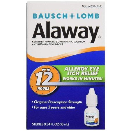 """<p><strong>Alaway</strong></p><p>walmart.com</p><p><strong>$10.96</strong></p><p><a href=""""https://go.redirectingat.com?id=74968X1596630&url=https%3A%2F%2Fwww.walmart.com%2Fip%2F594499809&sref=https%3A%2F%2Fwww.goodhousekeeping.com%2Fhealth-products%2Fg31788467%2Fbest-eye-drops-for-allergies%2F"""" target=""""_blank"""">Shop Now</a></p><p>Squeeze these drops into your eyes in the morning, and you should be good to go for the rest of the day. The active ingredient, ketotifen fumarate, is an antihistamine that blocks the cells in your eyes from reacting to whatever is trying its best to irritate them.</p>"""