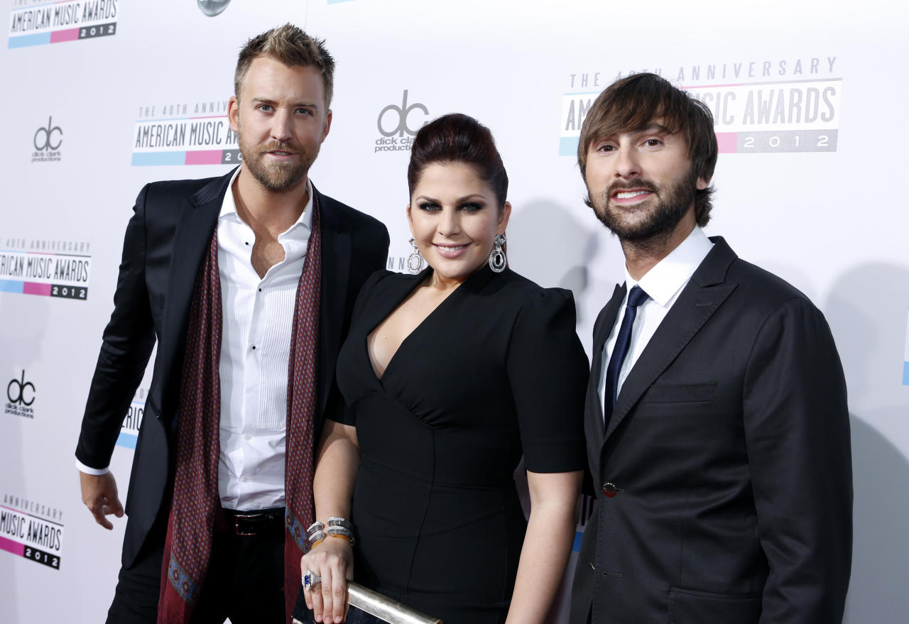 Lady Antebellum 40th American Music Awards Los Angeles, CA