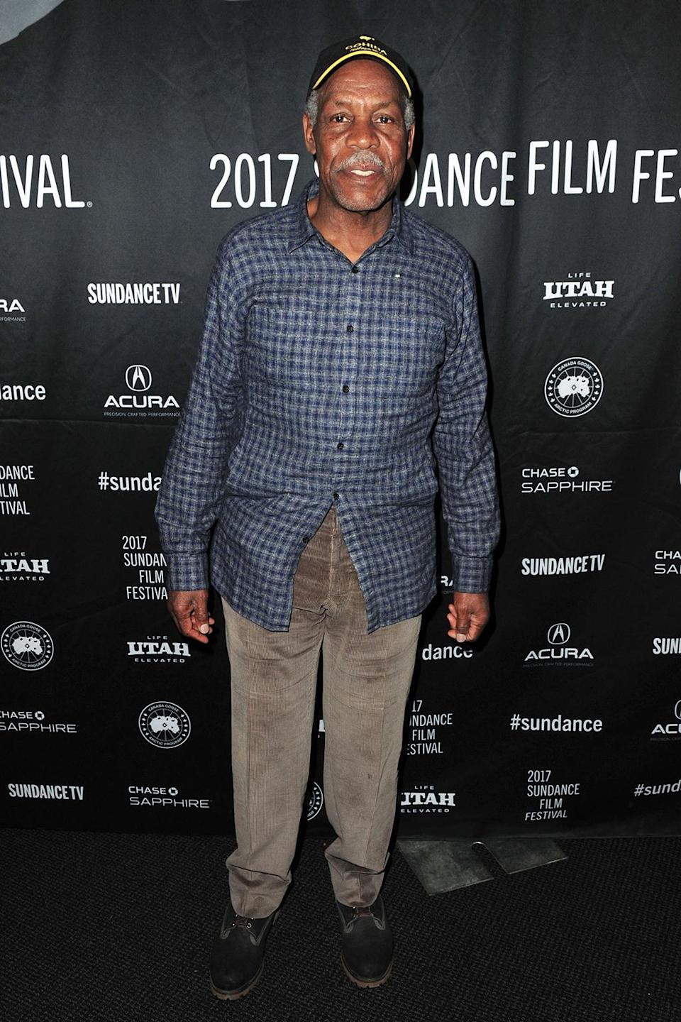 <p>The veteran actor arrives at the 'Strong Island' premiere on Jan. 23. (Photo: Jerod Harris/Getty Images) </p>