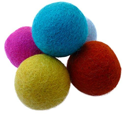 Earthtone Solutions Wool Felt Ball Toys for Cats and Kittens, Fun Adorable Colorful Soft Quiet Felted Fabric Balls, Unique Handmade Natural, Perfect for Cat Lover, Craft Supplies (Amazon / Amazon)