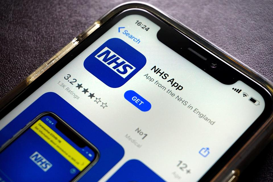From today, the NHS app will have a record of your vaccination status (AFP via Getty Images)