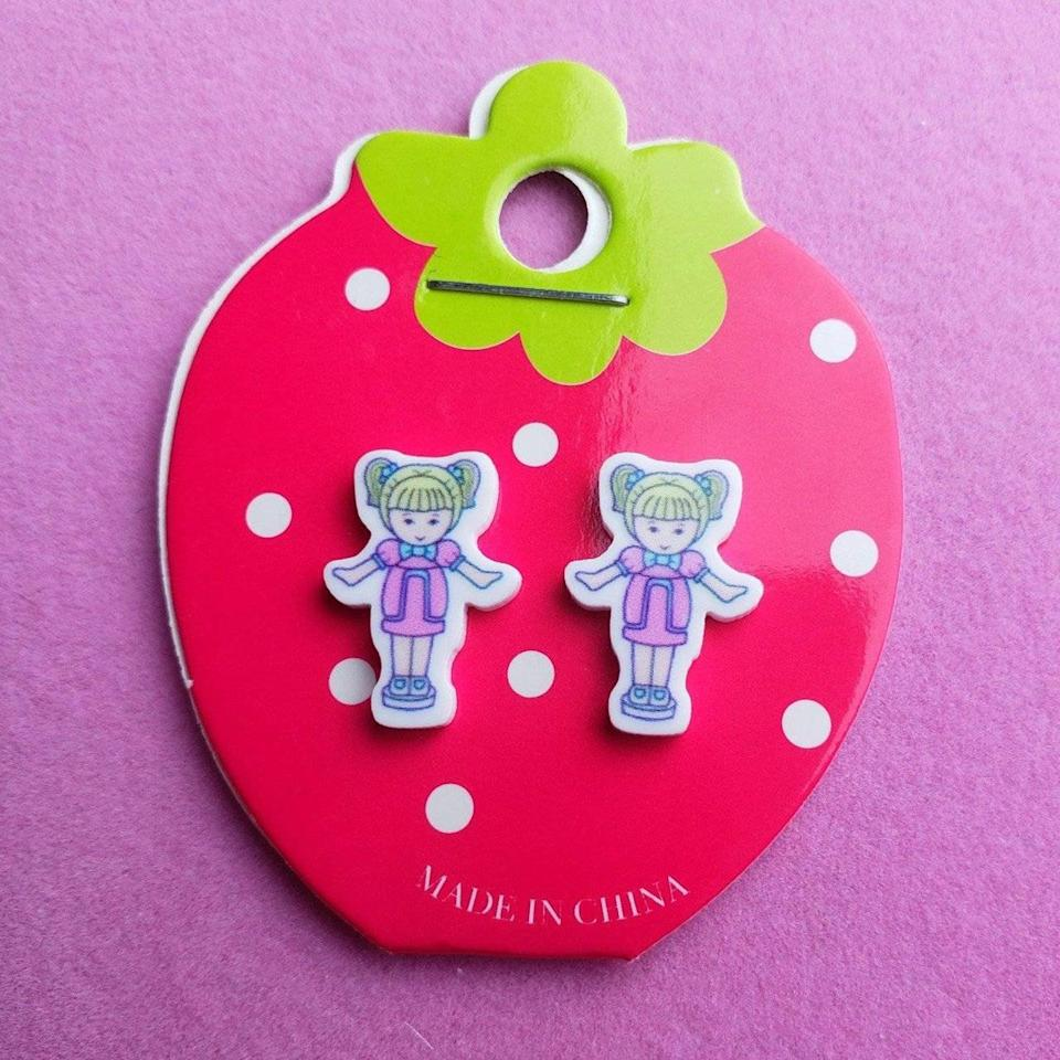 <p>Does it get any cuter than these <span>Polly Pocket Earrings</span> ($10)? I think not. </p>