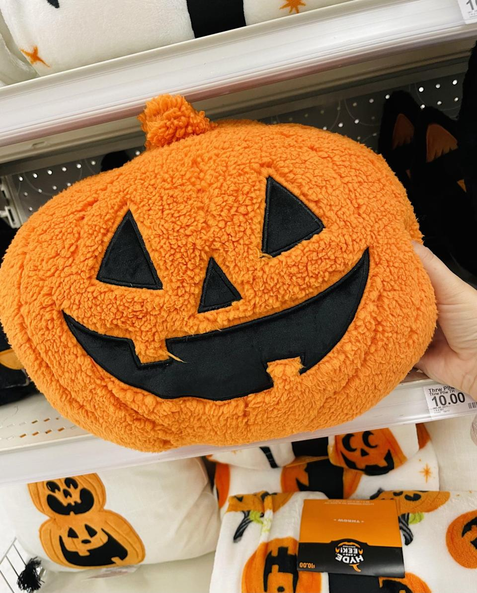 <p>This <span>Hyde &amp; Eek! Boutique Pumpkin Shaped Sherpa Throw Pillow</span> ($10) is one of the softest things I've ever touched. Get it before it disappears off the shelves!</p>