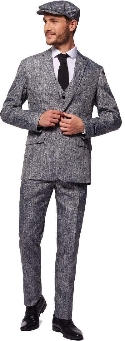 """<p>partycity.com</p><p><strong>$59.99</strong></p><p><a href=""""https://www.partycity.com/adult-gray-20s-gangster-costume-P899685.html?dwvar_P899685_size=M&cgid=group-costumes-tv-movie"""" rel=""""nofollow noopener"""" target=""""_blank"""" data-ylk=""""slk:Shop Now"""" class=""""link rapid-noclick-resp"""">Shop Now</a></p><p>Countdown to <a href=""""https://www.menshealth.com/entertainment/a29387638/peaky-blinders-season-6-release-date-cast-news/"""" rel=""""nofollow noopener"""" target=""""_blank"""" data-ylk=""""slk:season 6 of Peaky Blinders"""" class=""""link rapid-noclick-resp"""">season 6 of <em>Peaky Blinders</em></a> with a (fake) three-piece suit and peaked cap. Go all out and ask your barber for the cut. That's a """"textured crop.""""</p>"""