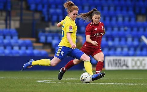 Birmingham's Aoife Mannion shapes to shoot against Liverpool - Credit: Getty Images