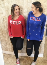 """<p>Motto for the holiday? Netflix and Chill, the right way of course, which is coordinating with your best friend in these DIY sweatshirts.</p><p><a class=""""link rapid-noclick-resp"""" href=""""https://www.amazon.com/Netflix-Movie-Unisex-Sweatshirt-Small/dp/B07K7XHLNR/?tag=syn-yahoo-20&ascsubtag=%5Bartid%7C10072.g.27868790%5Bsrc%7Cyahoo-us"""" rel=""""nofollow noopener"""" target=""""_blank"""" data-ylk=""""slk:Shop Netflix Sweatshirt"""">Shop Netflix Sweatshirt</a></p>"""