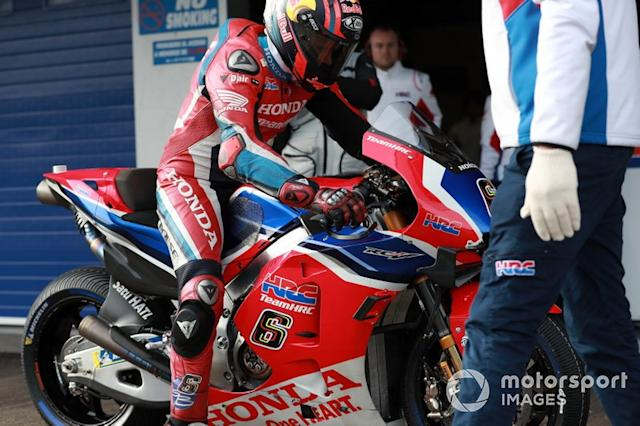 "Stefan Bradl, Team HRC <span class=""copyright"">Gold and Goose / Motorsport Images</span>"