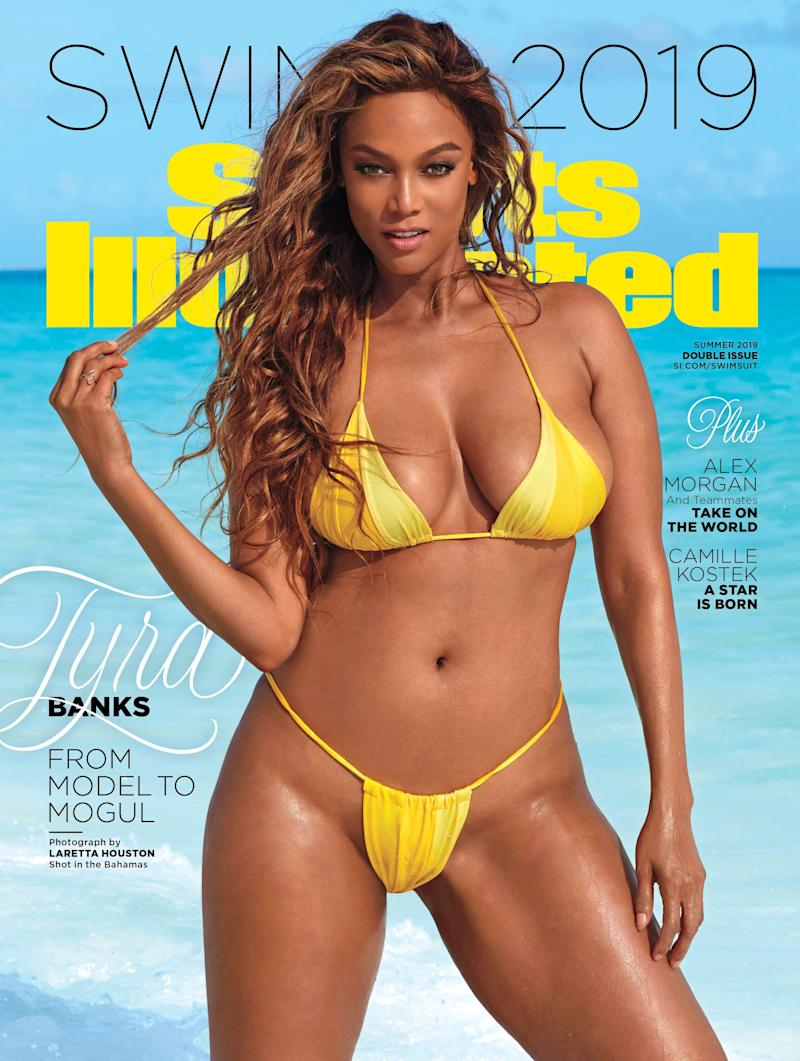 "Tyra Banks is one of Sports Illustrated Swimsuit's 2019 cover stars. (Photo: <a href=""https://www.si.com/swimsuit/"" target=""_blank"">Laretta Houston/Sports Illustrated</a>)"
