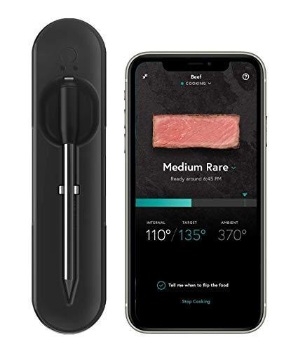 Yummly YTE000W5KB Premium Wireless Smart Meat Thermometer with Long Range Bluetooth Connectivit…