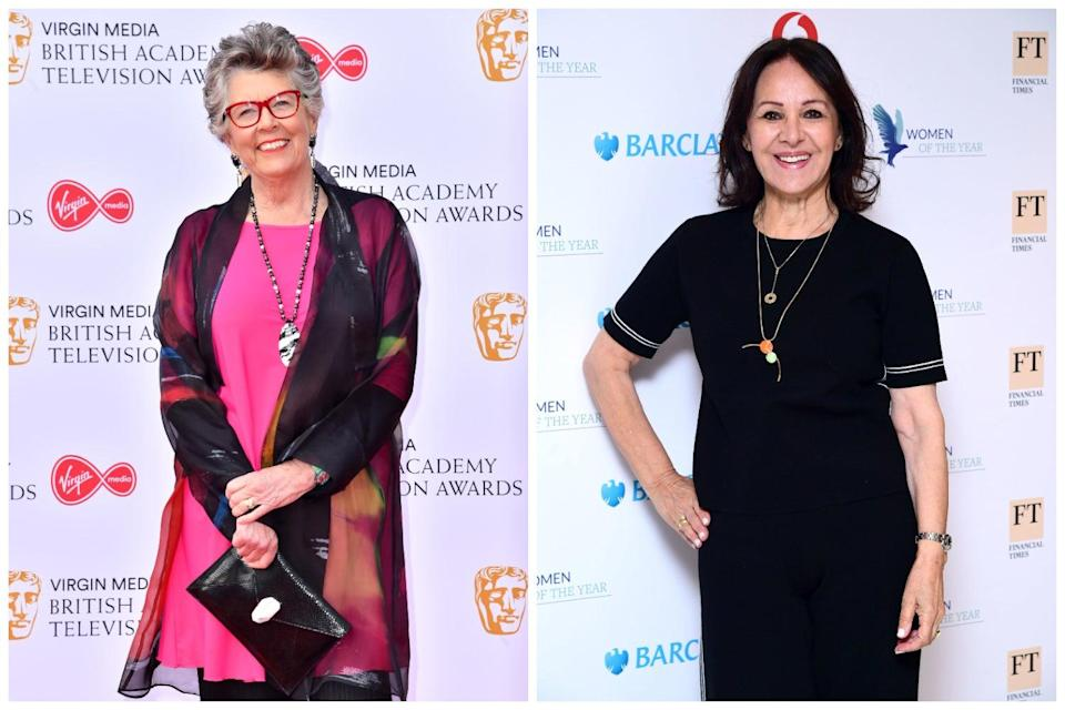Prue Leith and Arlene Phillips (PA)
