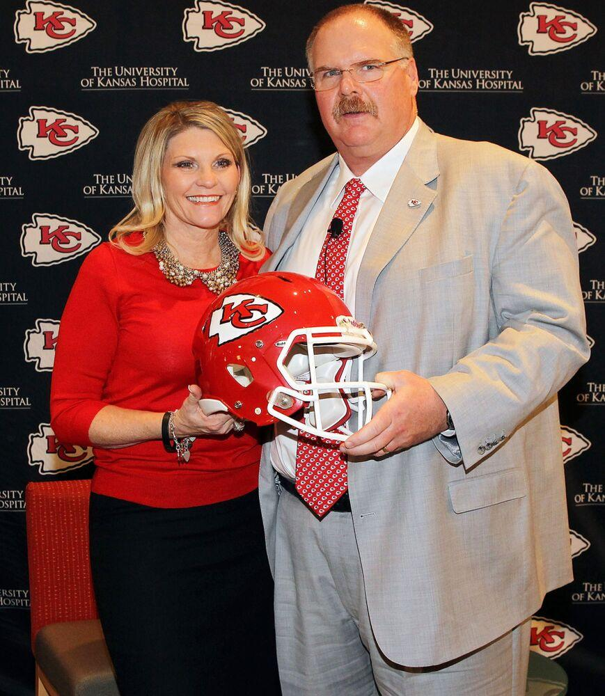 Tammy Reid and Andy Reid, 2013 | Jamie Squire/Getty